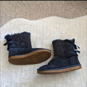Womens Blue Bailey Bow Uggs Size 7L